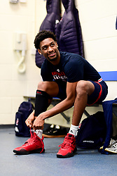 Levi Bradley of Bristol Flyers in the changing room prior to tippled off - Photo mandatory by-line: Ryan Hiscott/JMP - 17/01/2020 - BASKETBALL - SGS Wise Arena - Bristol, England - Bristol Flyers v London City Royals - British Basketball League Championship
