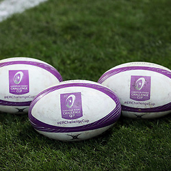 Logo of the European Rugby Challenge Cup during the European Challenge Cup match between Toulouse and Lyon on December 7, 2017 in Toulouse, France. (Photo by Manuel Blondeau/Icon Sport)