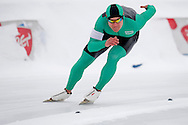 Piotr Michalski (SKL Gornik Sanok) from Poalnd competes during Polish Championships at Sprint Speed Skating competition on Stagny Ice Track in Warsaw, Poland on January 29, 2014.<br /> <br /> Poland, Warsaw, January 29, 2014.<br /> <br /> Picture also available in RAW (NEF) or TIFF format on special request.<br /> <br /> For editorial use only. Any commercial or promotional use requires permission.<br /> <br /> Mandatory credit:<br /> Photo by © Adam Nurkiewicz / Mediasport