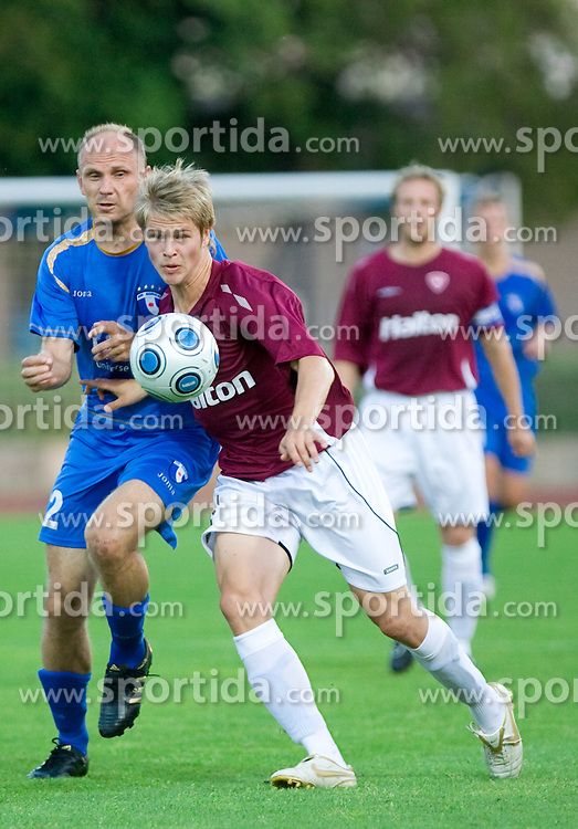 Milan Osterc of Gorica vs Henri Toivomaki  at 1st football match of 2nd preliminary Round of UEFA Europe League between ND Gorica and FC Lahti, on July 16 2009, in Nova Gorica, Slovenia. (Photo by Vid Ponikvar / Sportida)