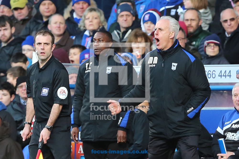 Picture by Richard Calver/Focus Images Ltd +447792 981244<br /> 01/02/2014<br /> Manager of Ipswich Town, Mick McCarthy (right) during the Sky Bet Championship match against Bolton Wanderers at Portman Road, Ipswich.