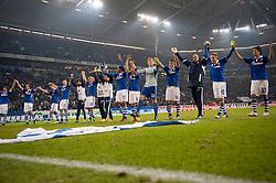 19.11.2011, Veltins Arena, Gelsenkirchen, GER, 1. FBL, FC Schalke 04 vs 1. FC Nuernberg, im Bild Jubel Schalke nach dem Sieg // during FC Schalke 04 vs. 1. FC Nuernberg at Veltins Arena, Gelsenkirchen, GER, 2011-11-19. EXPA Pictures © 2011, PhotoCredit: EXPA/ nph/ Kurth..***** ATTENTION - OUT OF GER, CRO *****