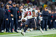 Houston Texans Running Back Carlos Hyde (23) during the International Series match between Jacksonville Jaguars and Houston Texans at Wembley Stadium, London, England on 3 November 2019.