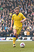 Leeds United Defender,  Charlie Taylor  during the Sky Bet Championship match between Blackburn Rovers and Leeds United at Ewood Park, Blackburn, England on 12 March 2016. Photo by Mark Pollitt.