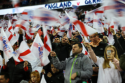 England fans cheer wave their flag and take selfies as England walk on the pitch - Mandatory by-line: Jason Brown/JMP - 10/11/2017 - FOOTBALL - Wembley Stadium - London, England - England v Germany - International Friendly