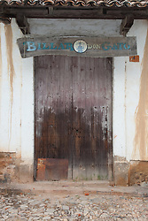 """Billar Don Gato"" - This old wooden door was photographed in the small mountain town of San Sebastian, Mexico."