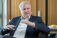 01 JUL 2019, BERLIN/GERMANY:<br /> Horst Seehofer, CSU, Bundesinnenminister, waehrend einem Interview, in seinem Buero, Bundesministerium des Inneren<br /> IMAGE: 20190701-01-019<br /> KEYWORDS: Büro