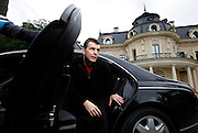 Mikhail Prokhorov, Russia's richest man in 2009, gets out of his Maybach at his country residence outside central Moscow. Prokorov made his fortune in investments. In 2009 Forbes estimates his net worth to be USD9.5 billion, making him the world's 40th richest person. Prokhorov is a bachelor and loves kickboxing..Prokhorov sold his 25% stake in Norilsk Nickel to fellow billionaire Oleg Deripaska. He also stepped down as general director of metals outfit Norilsk two year ago after being detained on suspicions that he allegedly made prostitutes available to guests he was entertaining in the glitzy French ski resort Courchevel; though he was never charged. Soon after that, he split with his longtime partner, Vladimir Potanin.
