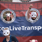 Hundreds of animals rights protestors and MP rally demand to STOP Live Transport 2018 unnecessary suffering in Parliament Square June 14 2018, London, UK.