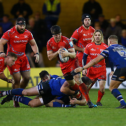 Ben Curry of Sale Sharks during the Gallagher Premiership match between Bath Rugby and Sale Sharks at the The Recreation Ground Bath England.2nd December 2018,(Photo by Steve Haag Sports)