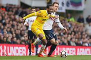 Millwall defender Shaun Cummings (2) battles with Tottenham Hotspur Midfielder Christian Eriksen (23) during the The FA Cup quarter-final match between Tottenham Hotspur and Millwall at White Hart Lane, London, England on 12 March 2017. Photo by Phil Duncan.