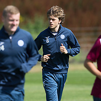 St Johnstone Training...07.08.15<br /> Murray Davidson pictured in training this morning ahead of tomorrow's game against Inverness<br /> Picture by Graeme Hart.<br /> Copyright Perthshire Picture Agency<br /> Tel: 01738 623350  Mobile: 07990 594431