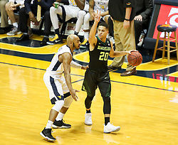 Jan 9, 2018; Morgantown, WV, USA; Baylor Bears guard Manu Lecomte (20) calls out a play during the first half against the West Virginia Mountaineers at WVU Coliseum. Mandatory Credit: Ben Queen-USA TODAY Sports