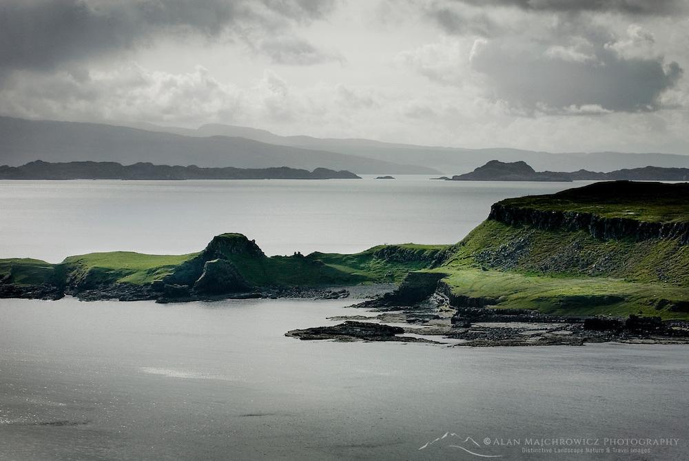Eastern coast of Isle of Skye Scotland