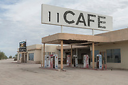 North America, USA, California, Mojave desert, Desert Center, Pax Americana Cafe