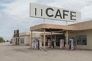 North America, USA, California, Mojave desert, Desert Center, Pax Americana Cafe