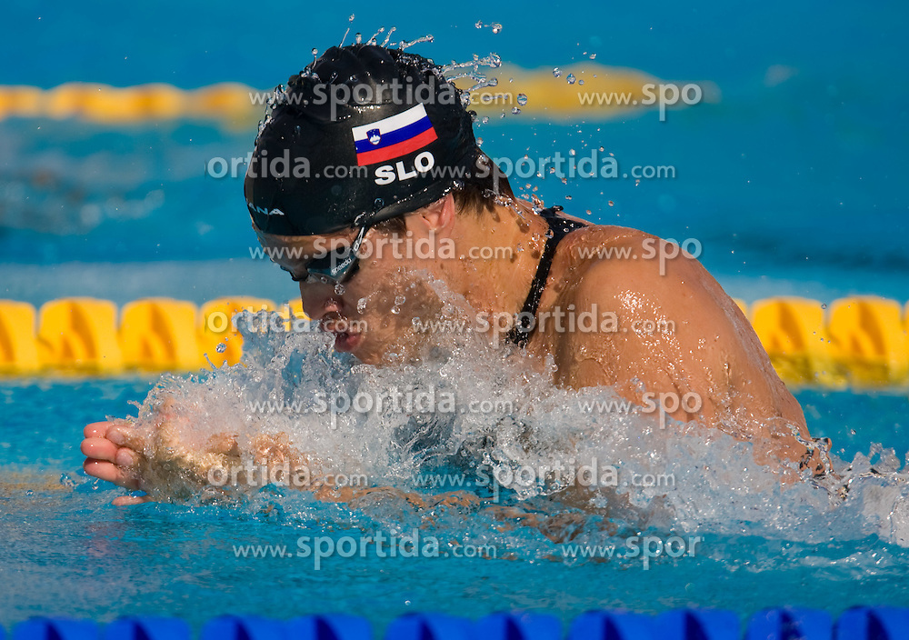 Matjaz Markic of Slovenia competes in the Men's 50m Breaststroke Heats during the 13th FINA World Championships Roma 2009, on July 28, 2009, at the Stadio del Nuoto,  in Foro Italico, Rome, Italy. (Photo by Vid Ponikvar / Sportida)