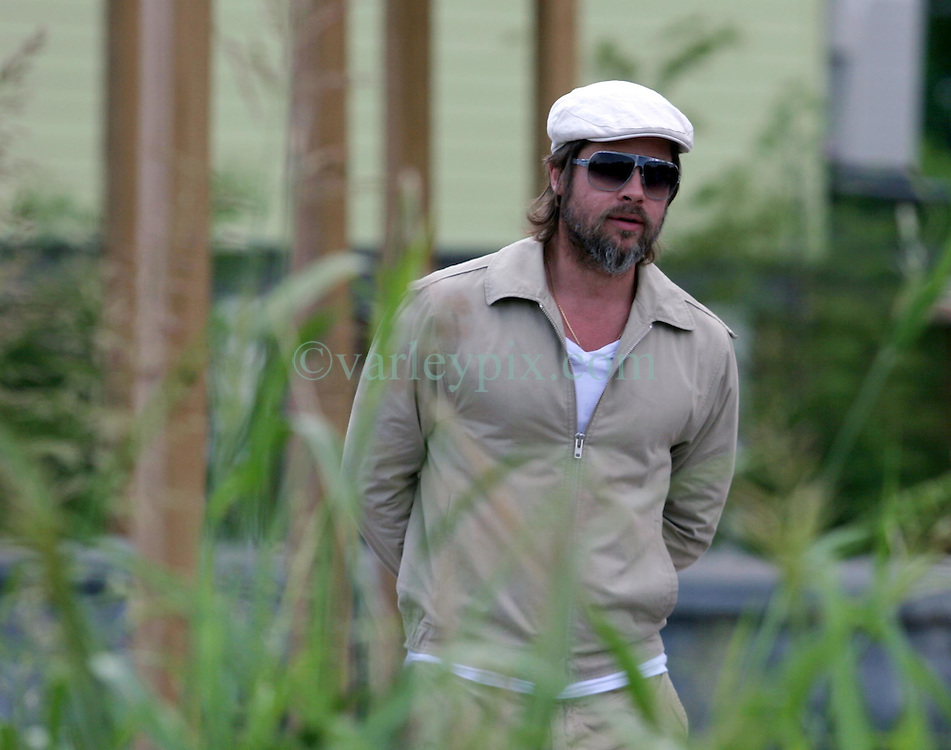 31 May 2010. New Orleans, Louisiana, USA.  <br /> Brad Pitt on the set of Spike Lee's latest movie,  'If God is Willing and the Creek Don't Rise.'<br /> Photo; Charlie Varley.