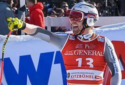 24.01.2020, Streif, Kitzbühel, AUT, FIS Weltcup Ski Alpin, SuperG, Herren, im Bild Aleksander Aamodt Kilde (NOR) // Aleksander Aamodt Kilde of Norway reacts after his run for the men's SuperG of FIS Ski Alpine World Cup at the Streif in Kitzbühel, Austria on 2020/01/24. EXPA Pictures © 2020, PhotoCredit: EXPA/ Erich Spiess