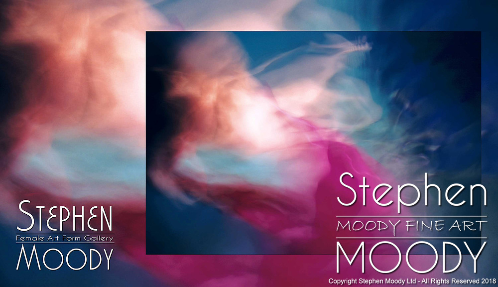 Serenity - Abstract Art of the Female Form created by artist Stephen Moody of Scottsdale, AZ.  Large wall art for businesses, hospitality industry, interior designers and individual collectors.