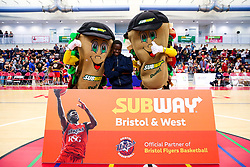 Half time photos - Rogan/JMP - 13/10/2017 - BASKETBALL - SGS Wise Arena - Bristol, England. - Bristol Flyers v Cheshire Pheonix - BBL Cup.