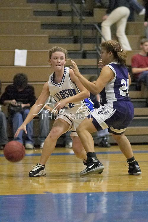MCHS Varsity Girls Basketball..vs Strasburg..Second Period..December 17, 2004