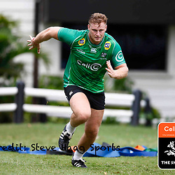 Jean-Luc du Preez of the Cell C Sharks during The Cell C Sharks training session at Jonsson Kings Park Stadium in Durban, South Africa. 21 March 2019 (Mandatory Byline Steve Haag)
