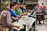 beeldreportage bij fanfare kempenzonen tielen-repetitie drumteam-foto joren de weerdt