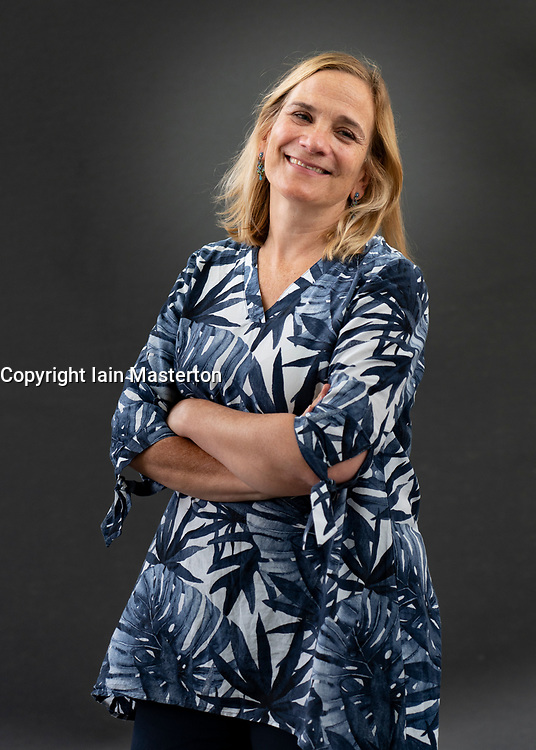 Edinburgh, Scotland, UK. 22 August 2019. Tracy Chevalier at Edinburgh International Book Festival 2019. Two decades after The Girl with the Pearl Earring Tracy Chevalier is back with another finely rendered story of women in A Single Thread. Iain Masterton/Alamy Live News.