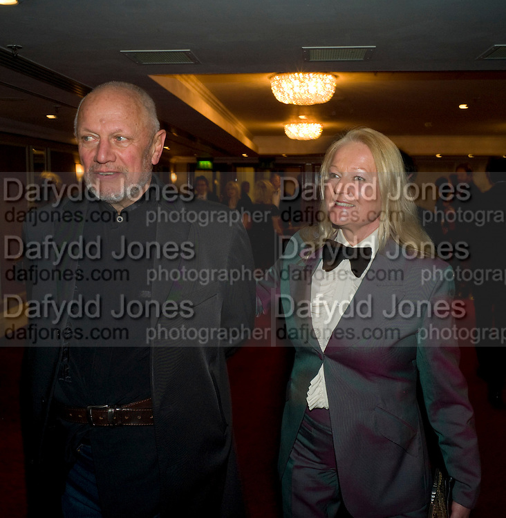 STEPHEN BERKOFF; CLARA FISHER, The Laurence Olivier Awards, The Grosvenor House Hotel. Park Lane. London. 8 March 2009 *** Local Caption *** -DO NOT ARCHIVE -Copyright Photograph by Dafydd Jones. 248 Clapham Rd. London SW9 0PZ. Tel 0207 820 0771. www.dafjones.com<br /> STEPHEN BERKOFF; CLARA FISHER, The Laurence Olivier Awards, The Grosvenor House Hotel. Park Lane. London. 8 March 2009
