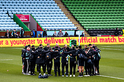 Harlequins huddle - Mandatory by-line: Robbie Stephenson/JMP - 16/02/2019 - RUGBY - Twickenham Stoop - London, England - Harlequins v Worcester Warriors - Gallagher Premiership Rugby