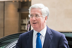 London June 11th 2017. Defence Secretary Michael Fallon arrives at the BBC in London ahead of appearing on the Andrew Marr Show.