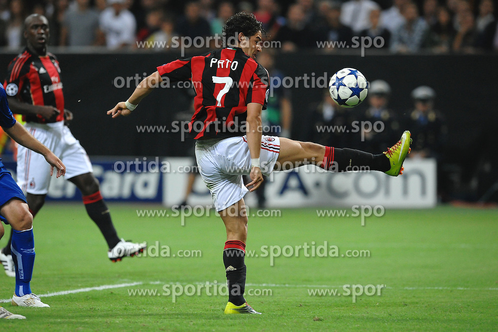 15.09.2010, Stadio Giuseppe Meazza, Mailand, ITA, UEFA CL, AC Milan vs Auxerre, im Bildoccasione da gol per PATO.EXPA Pictures © 2010, PhotoCredit: EXPA/ InsideFoto/ Andrea Staccioli +++++ ATTENTION - FOR AUSTRIA AND SLOVENIA CLIENT ONLY +++++... / SPORTIDA PHOTO AGENCY