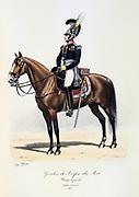Major General of the King's guard, 1815.  From 'Histoire de la maison militaire du Roi de 1814 a 1830' by Eugene Titeux, Paris, 1890.