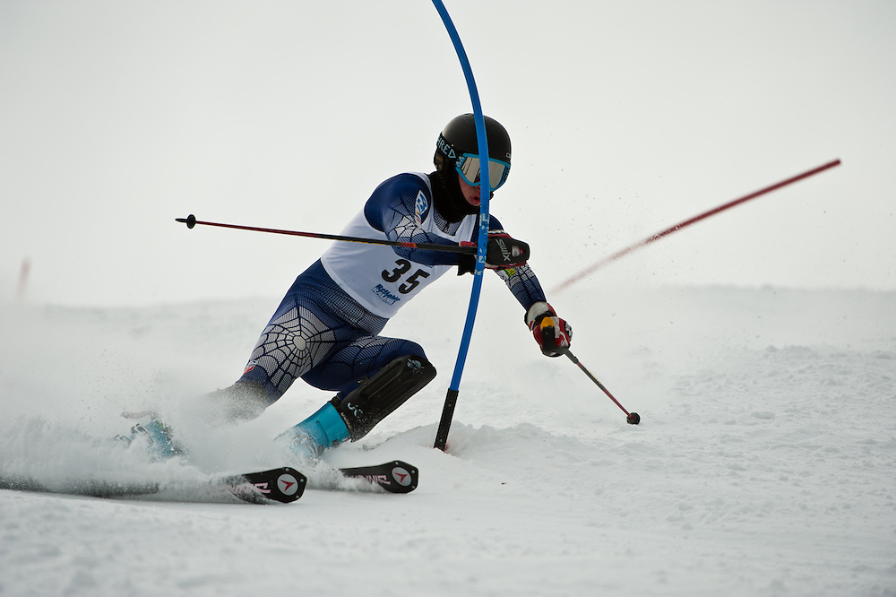 Men's Slalom action from the USCSA Western Regional Championship event held at Bogus Basin, Boise, Idaho, Feb 17-19, 2011.
