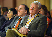 © Licensed to London News Pictures. 10/03/2013. Brighton, UK. Paddy Ashdown listens to Nick Clegg, Liberal Democrat Leader and Deputy Prime Minister as he delivers his keynote speech to the Liberal Democrat Spring Conference in Brighton today 10th March 2013. Photo credit : Stephen Simpson/LNP