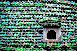 Detail of the roof of The cathedral in Colmar, Alsace, France<br /> <br /> (c) Andrew Wilson | Edinburgh Elite media