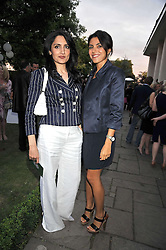 Left to right, RENU MEHTA and NINA MOADDEL at The Ralph Lauren Sony Ericsson WTA Tour Pre-Wimbledon Party hosted by Richard Branson at The Roof Gardens, London on June 18, 2009