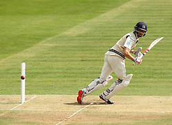 Middlesex's Josh Simpson flicks a shot away - Photo mandatory by-line: Robbie Stephenson/JMP - Mobile: 07966 386802 - 03/05/2015 - SPORT - Football - London - Lords  - Middlesex CCC v Durham CCC - County Championship Division One