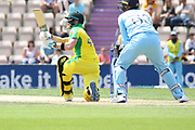 Steve Smith batting during the ICC Cricket World Cup 2019 warm up match between England and Australia at the Ageas Bowl, Southampton, United Kingdom on 25 May 2019.