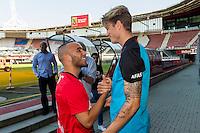 ALKMAAR - AFAS Stadion, 31-08-2016, AZ contracteert Bel Hassani, AZ speler Wout Weghorst.