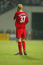 BANGKOK, THAILAND - Thailand. Thursday, July 24, 2003: Liverpool's Zac Whitbread during a preseason friendly match at the Rajamangala National Stadium. (Pic by David Rawcliffe/Propaganda)