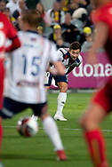 GOSFORD, AUSTRALIA - OCTOBER 02: Central Coast Mariners forward Thomas Oar (10) hits a free kick during the FFA Cup Semi-final football match between Central Coast Mariners and Adelaide United on October 02, 2019 at Central Coast Stadium in Gosford, Australia. (Photo by Speed Media/Icon Sportswire)