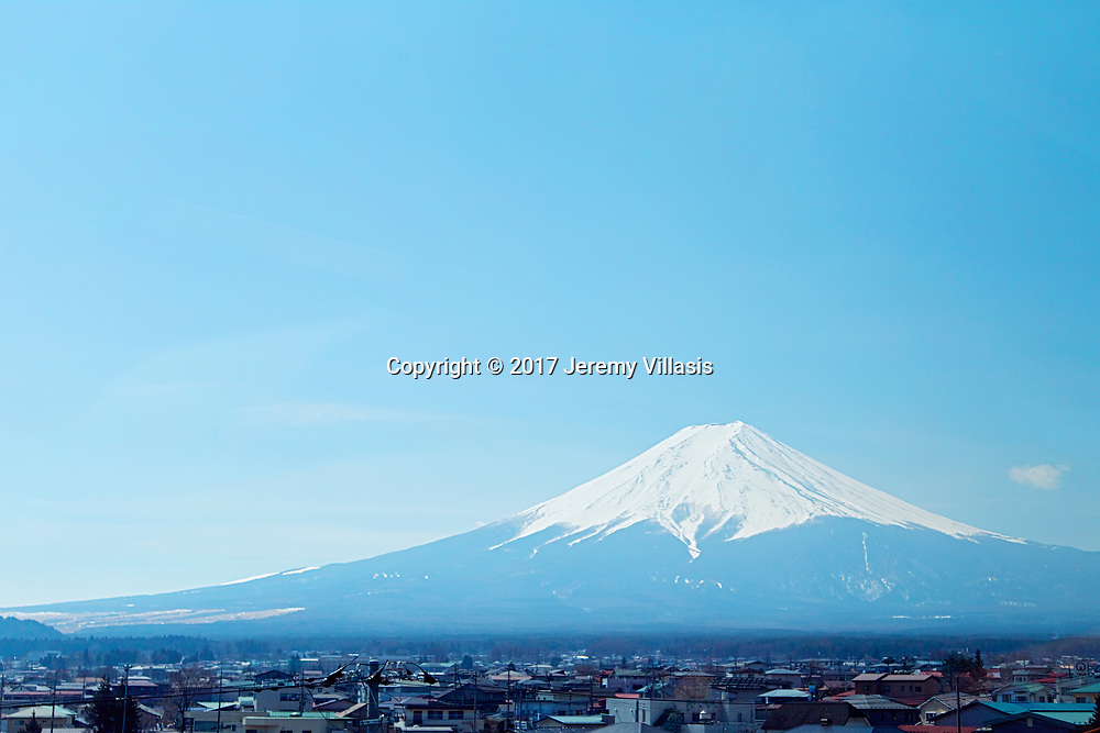A well known symbol of Japan, Mt. Fuji is the country's highest mountain and is an active stratovolcano. It lies 100 kilometers of Tokyo, and can be seen from there on a clear day.<br />