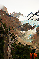 Hike to El Mirador and Laguna Torre in Patagonia from Hosteria El Pilar in El Chalten, Argentina. Image taken with a Nikon D3x and 50 mm f/1.4G lens (ISO 100, 50 mm, f/16, 1/160 sec).