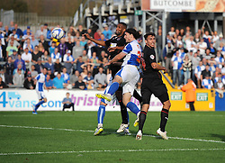 Bristol Rovers' John-Joe OToole see's his header well saved - Photo mandatory by-line: Joe Meredith/JMP - Tel: Mobile: 07966 386802 05/10/2013 - SPORT - FOOTBALL - Memorial Stadium - Bristol - Bristol Rovers V Fleetwood Town - Sky Bet League 2