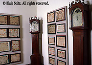 Fraktur and clocks, Pennsylvania Dutch Gallery, Reading Historical Society, Berks Co., PA