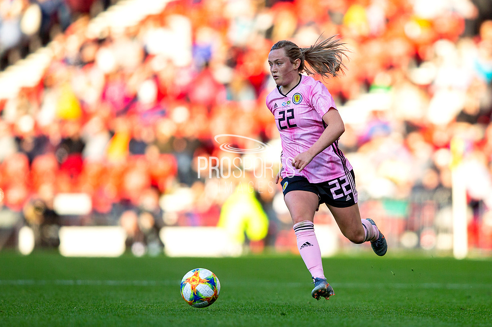 Erin Cuthbert (#22) of Scotland in action during the International Friendly match between Scotland Women and Jamaica Women at Hampden Park, Glasgow, United Kingdom on 28 May 2019.