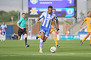 Colchester Utd forward Kurtis Guthrie surges forward during the EFL Sky Bet League 2 match between Colchester United and Cambridge United at the Weston Homes Community Stadium, Colchester, England on 13 August 2016. Photo by Nigel Cole.
