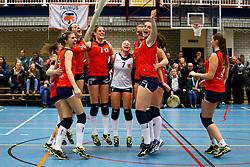 20150128 NED: Beker Oskam Taurus - Sudosa Desto, Houten<br />Oskam Taurus viert de overwinning<br />©2014-FotoHoogendoorn.nl / Pim Waslander